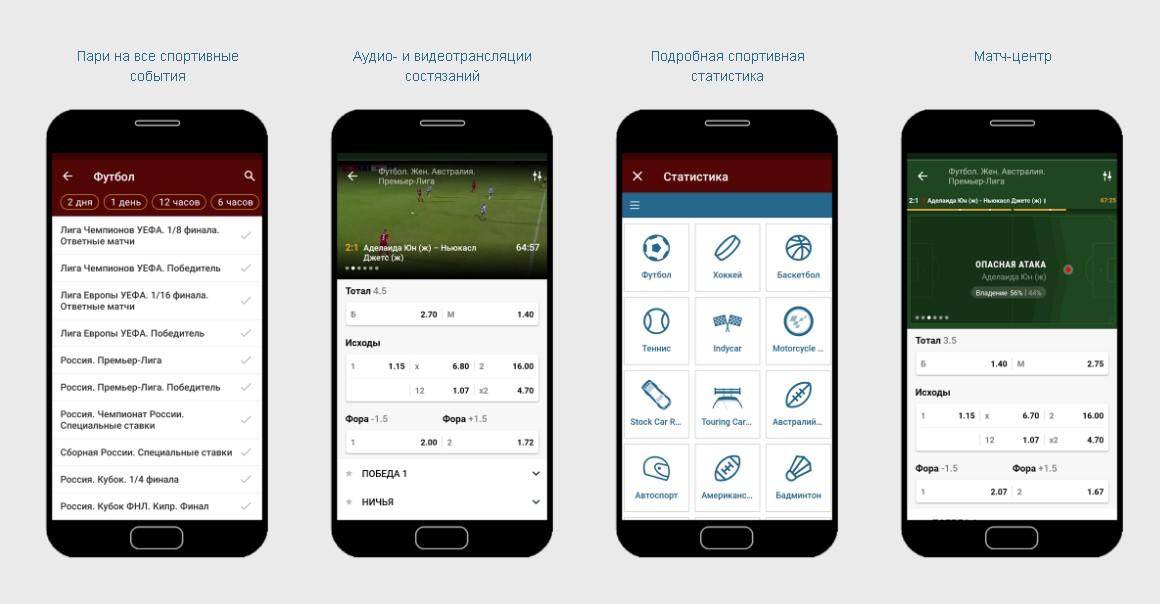 Фонбет приложение для Андроид